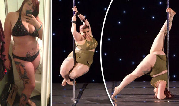 Pole dancing amature