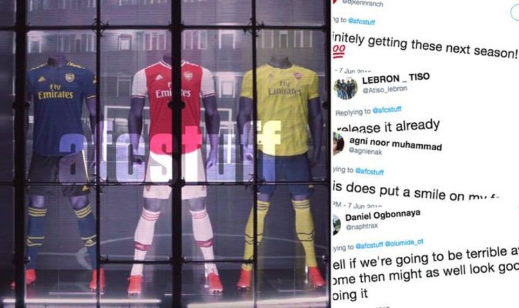 67accc5fd Arsenal third kit leaked as fans get excited about new Adidas shirt - ' Release it already'