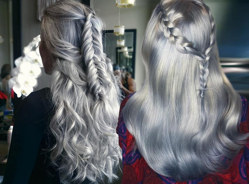 Silver Hair Color Ideas 2018 Grey In Hairstyle