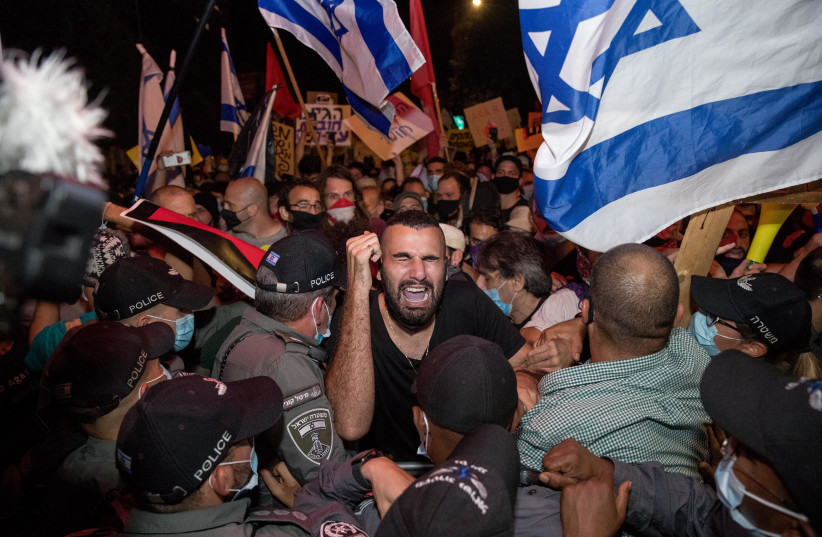 34 arrested amid mass anti-government protests in Jerusalem - The Jerusalem Post