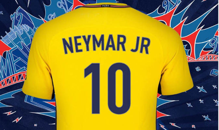 481d65640e0 Neymar to PSG  Fans have to pay HUGE price to get £200m star s name on back of  shirt