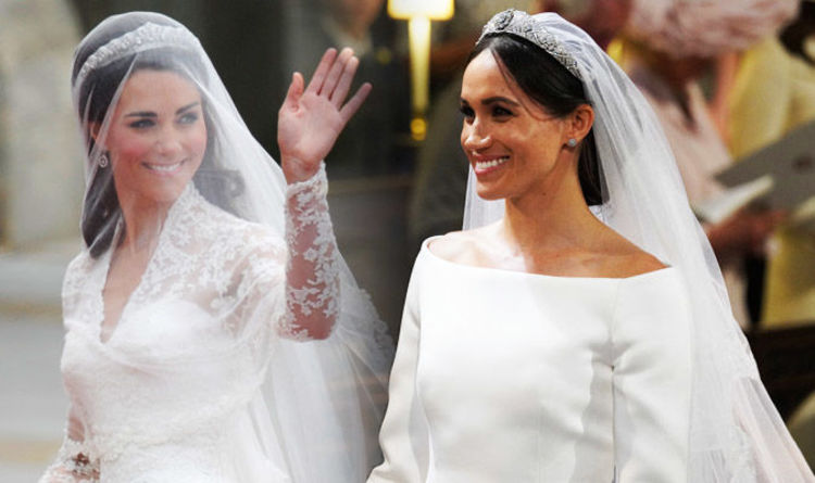 b138982fb4a Cost of Meghan Markle s wedding dress said to be this sum - far more than  Kate Middleton s