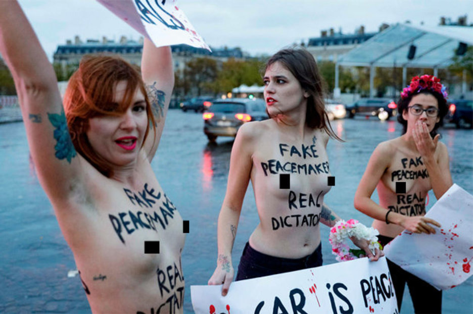 You Nude protester femen protests excellent and