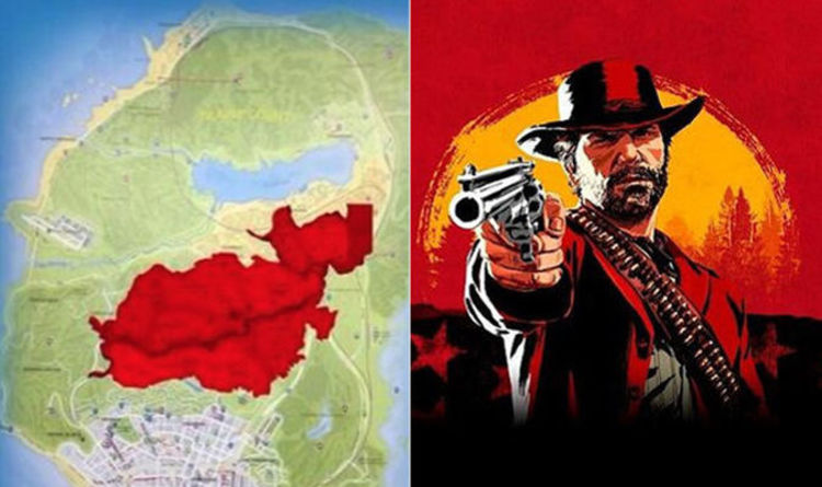 Red Dead Redemption Us Map.Red Dead Redemption 2 Map Size How Big Is The Rdr2 Map Compared To