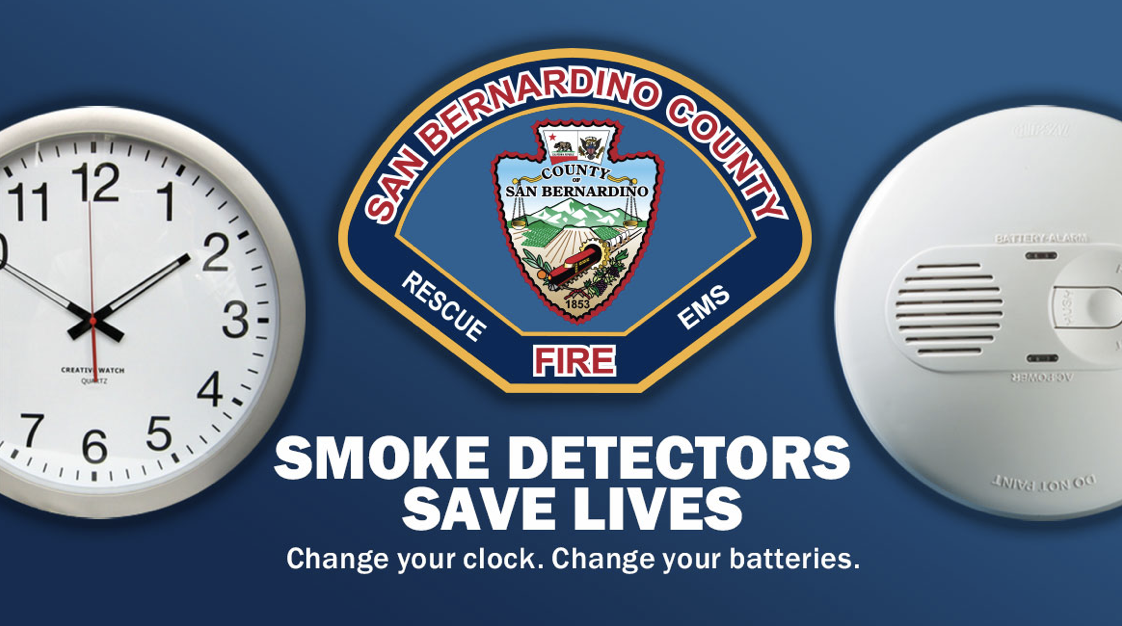 Sbcofd Reminds You To Change Your Clock Change Your Batteries Victor Valley News Vvng Com