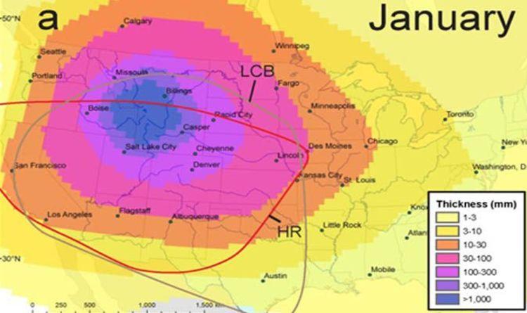 Yellowstone Volcano Eruption Map Yellowstone volcano eruption map: Nowhere is safe from volcanic