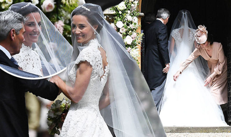 Pippa Middleton Wedding Kate Fixes Dress At St Marks Church