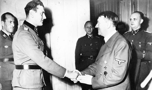 Image result for Otto Skorzeny + adolf hitler