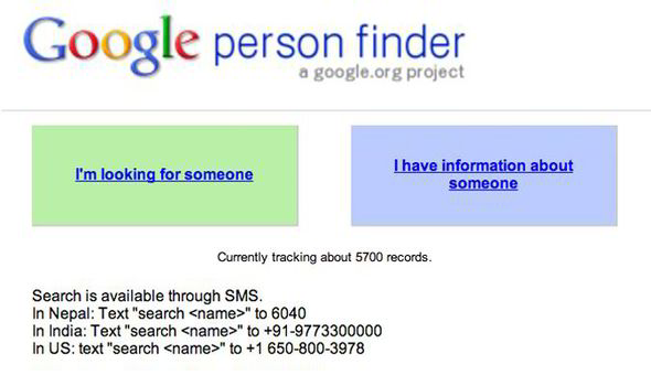 person finder google launches databse to find missing people in
