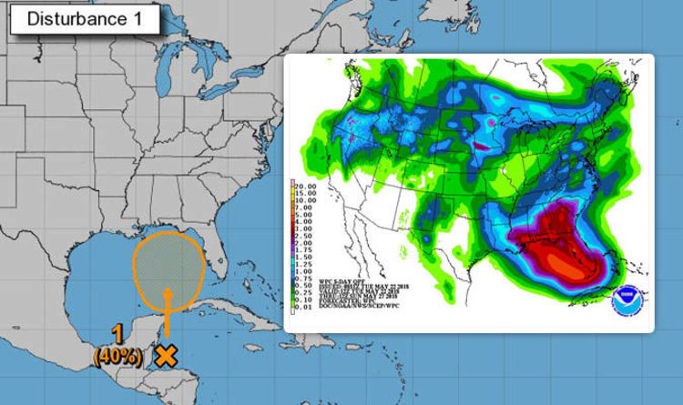 Florida Weather Heavy Rain And Tropical Storm Brewing In Gulf Of