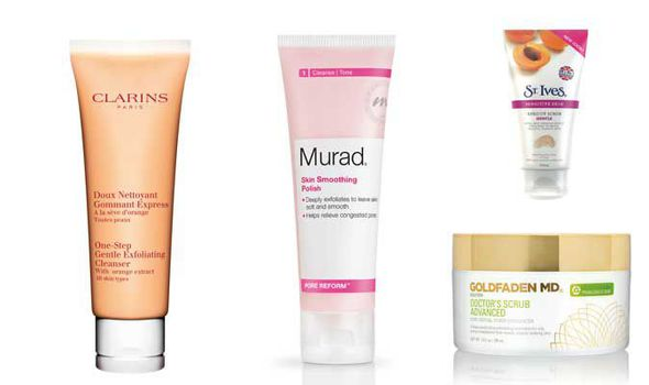 Facial Exfoliators Clarins The Body Shop St Ives Goldfaden
