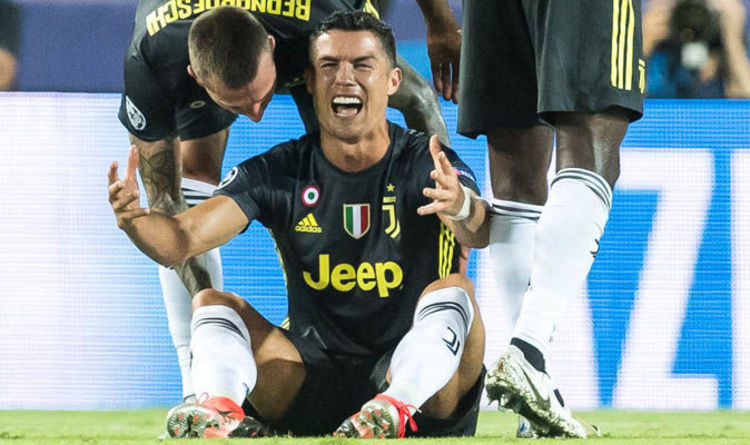 20f104be30f Cristiano Ronaldo  Juventus star CRIES after Valencia red card and will  MISS Man Utd clash