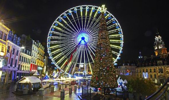 festive ride the ferris wheel at the lille christmas market