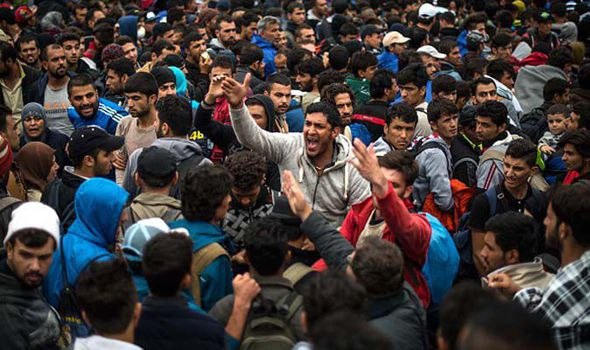 Image result for migrants attack