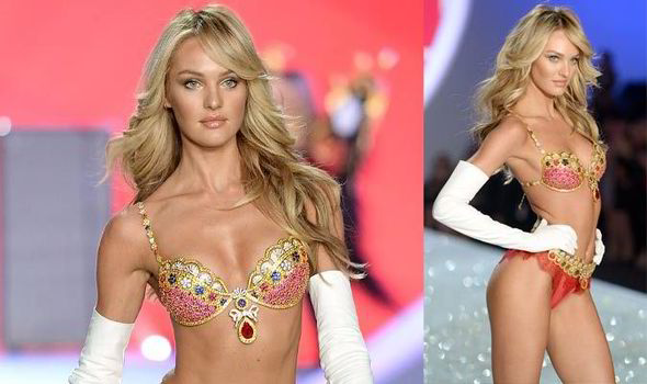 56ecb39bff34e Candice Swanepoel shows off her lean physique in the Victoria 039 s Secret  039 10 million