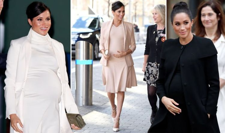 dd389e6502b Why pregnant Meghan Markle wears fitted clothes - top designer reveals  fashion TRICK