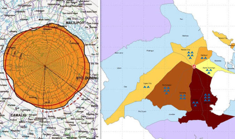 Mayon Volcano Map Where Are The Danger Zones Around The Erupting Volcano