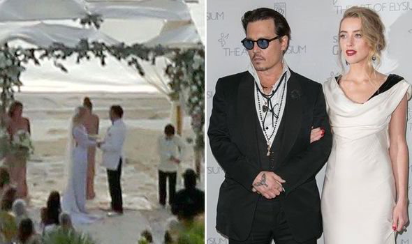 Johnny Depp And Amber Heard Wedding | Johnny Depp Weds Amber Heard In Romantic Beach Ceremony In The