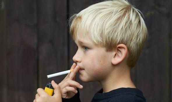 Smoking cigarettes Kids