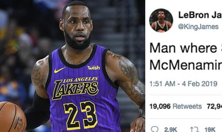 0f2ec76cee28 LeBron James to break Anthony Davis trade  Lakers fans go wild after  cryptic tweet