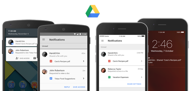 Google Drive Apps Get Sharing Notifications Access Requests And Previews Techcrunch