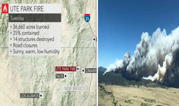 New Mexico On World Map.New Mexico Fire Map Update Ute Park Fire Doubles In Size Where