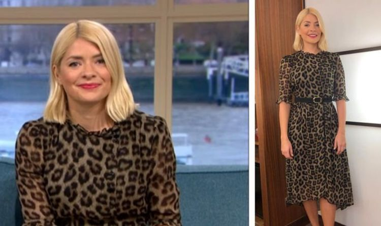c424096f9880 Holly Willoughby looks WILD in animal print dress on This Morning - where  to buy her look