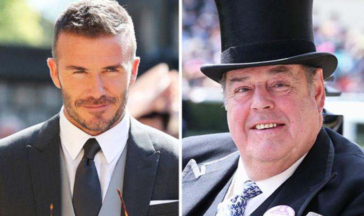 Winston Churchills Grandson Nicholas Soames Sits Next To David
