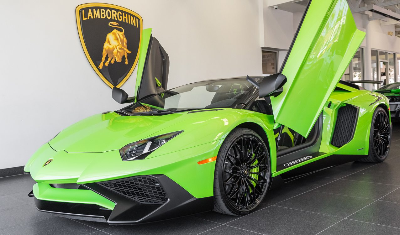 Verde Ithaca 2017 Lamborghini Aventador Sv Roadster Sold And Delivered