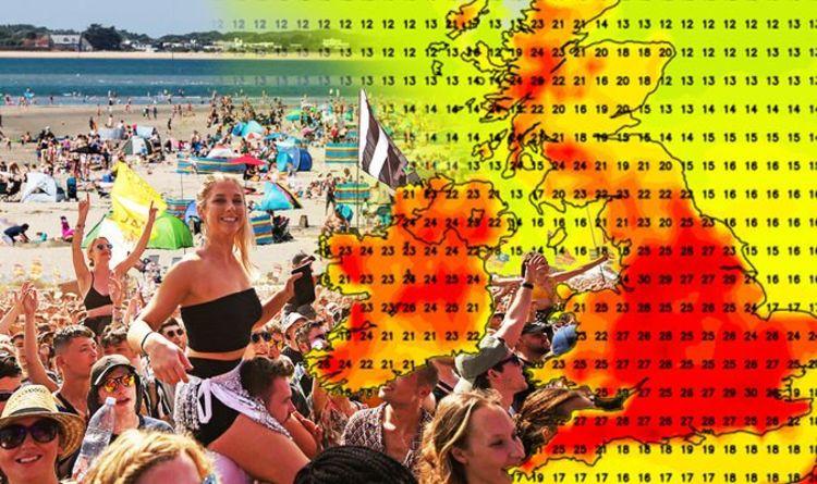 UK weather forecast: HEATWAVE WARNING as 'churning vortex