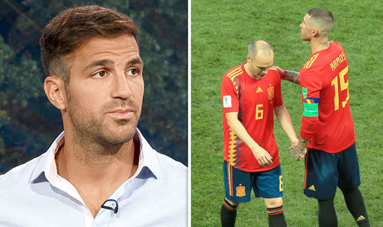 7ecc371bf Spain out of World Cup  Cesc Fabregas reveals Barcelona and Real Madrid  surprise