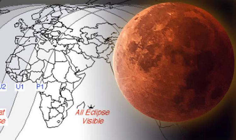 Lunar Eclipse Near Me Blood Moon 2018 Path Map And Totality Today