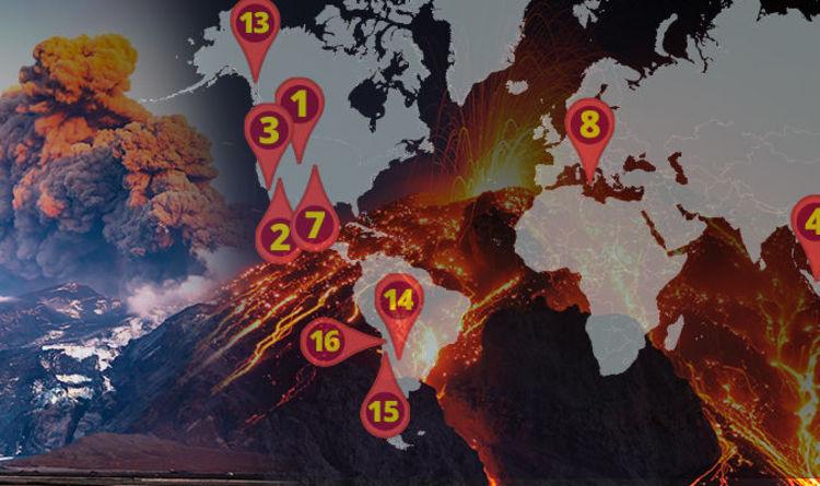 Supervolcanoes MAPPED: Where the world's biggest volcanoes
