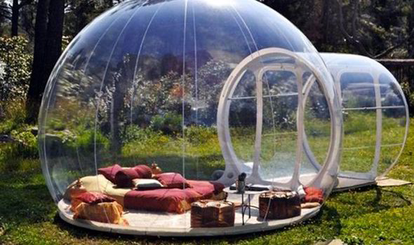 Inside the bubble hotel where the walls are made of transparent bubble hotel thecheapjerseys