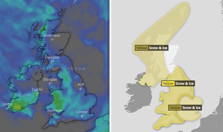 Met Office Yellow Weather Warnings Latest Map Updates Snow Alert