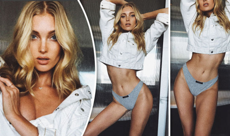 ffd983fb9fc38 Elsa Hosk writhes around in saucy thong as she teases ample cleavage in  jaw-dropping video