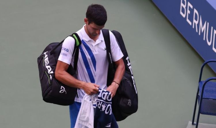 Novak Djokovic Disqualified Why Was Djokovic Disqualified From Us Open 2020 Tennis Sport Express Co Uk
