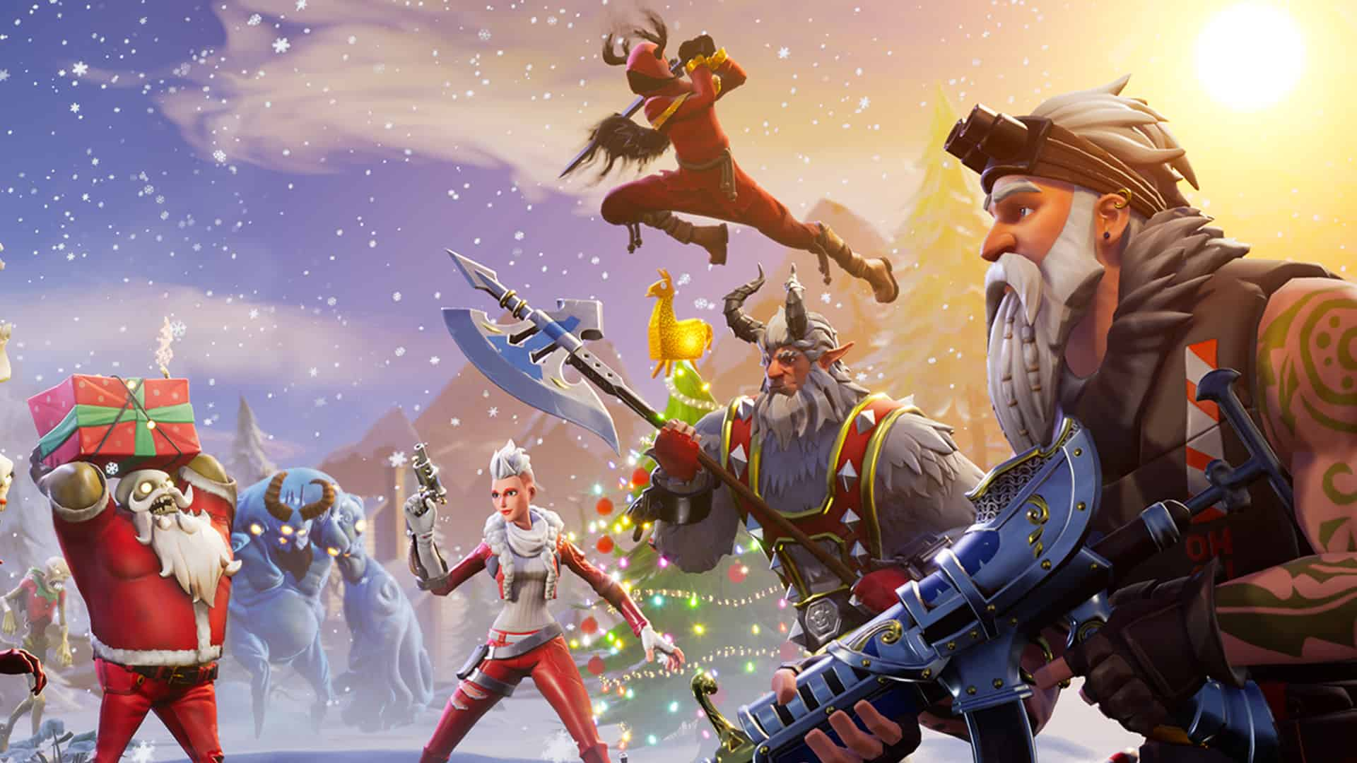 14 Days Of Fortnite Save The World Fortnite Patch V7 10 Features Epic Winter Themed Festivities
