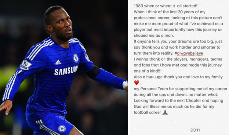 c58e6959b Didier Drogba retires  Chelsea legend posts emotional statement as he hangs  up boots