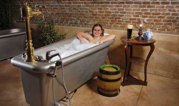 The world\'s weirdest spa where you can bath in beer as its \'good for ...
