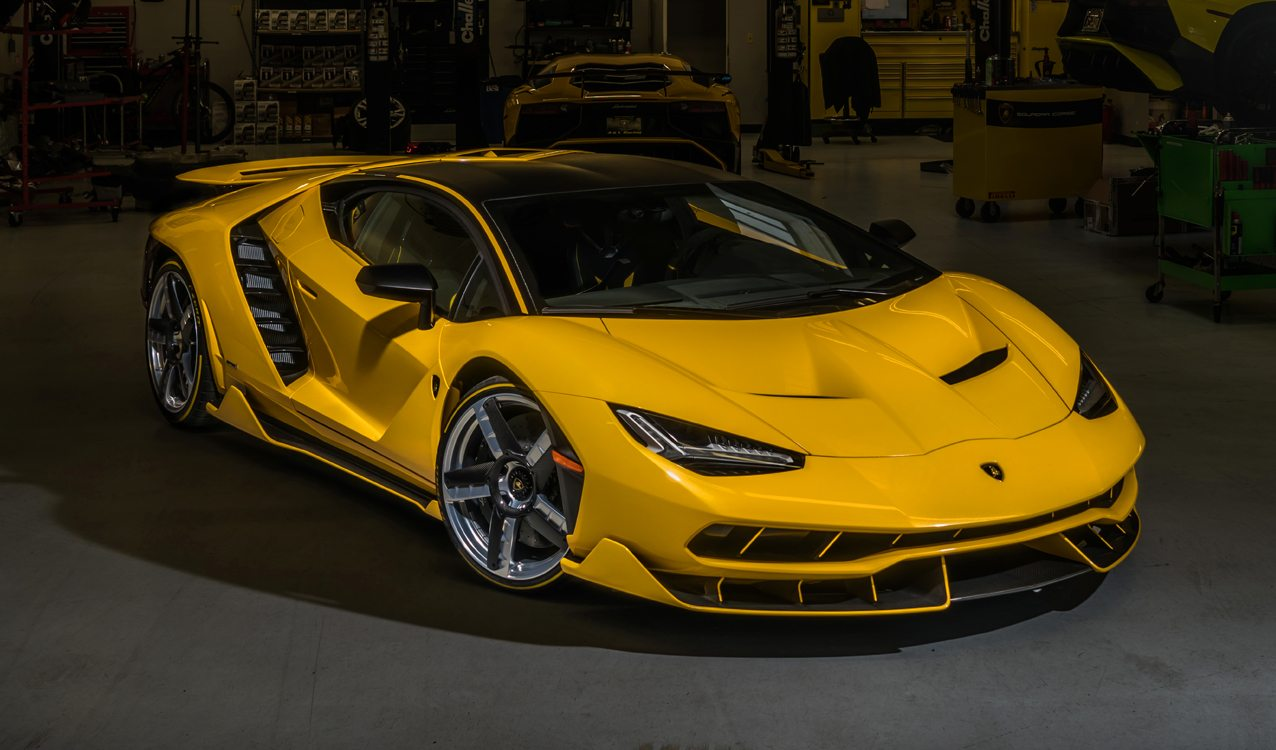 Yellow Lamborghini Centenario Delivered In California