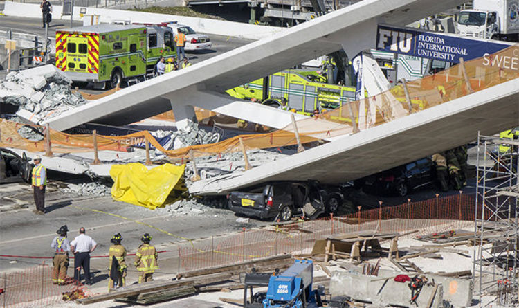 Image result for bridge collapse in florida images