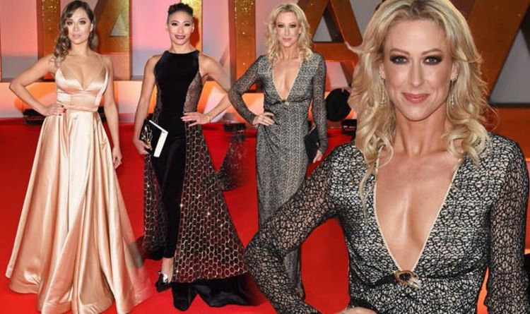 9d2e46a1e1b Faye Tozer leads the Strictly stars on the red carpet of the National  Television Awards
