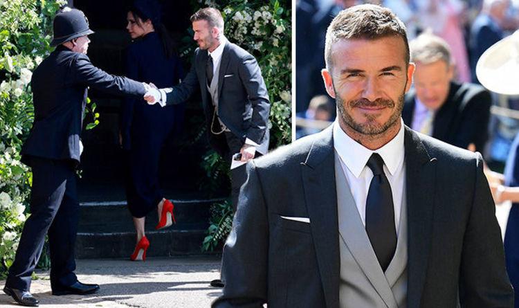 David Beckham Praised On Twitter For Making This Gesture At Royal Wedding 2018 Celebrity News Showbiz Tv Express Co Uk