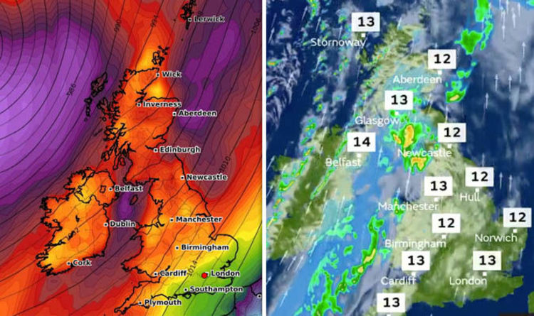 Uk Weather Forecast Today Britain Pelted By 60mph Winds Met
