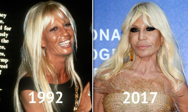 ad377437d50 Donatella Versace through the ages  Blonde Italian fashion designer s  ever-changing style
