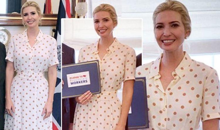 e8b5b11a Ivanka Trump news: Former model stuns in Zara polka dot dress for White  House meeting