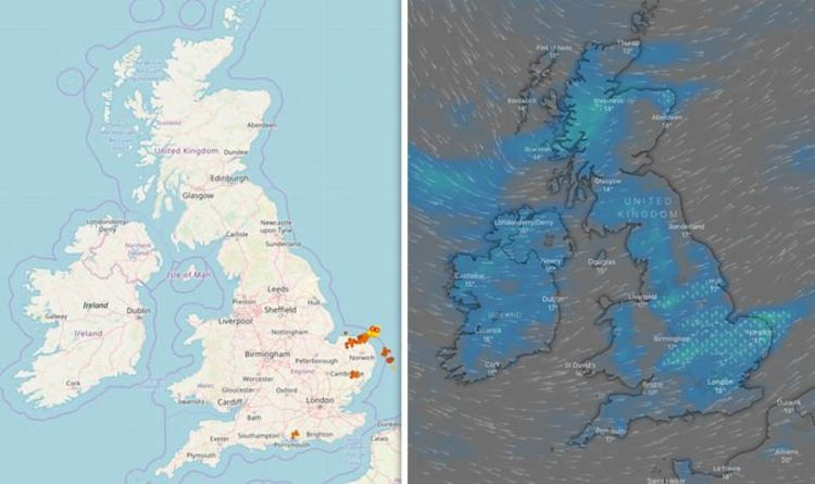 Map Of England The Last Kingdom.Uk Lightning Tracker Map Live Latest Updates As Britain Struck By