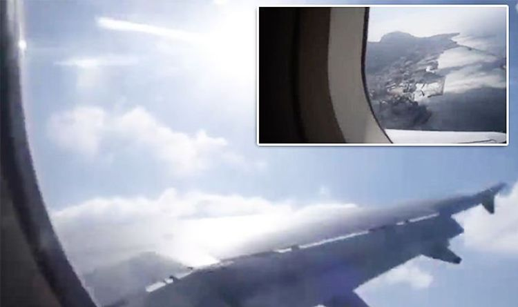 045b148b2999 WATCH  Terrifying moment BA plane lurches violently in extreme winds as  passengers scream