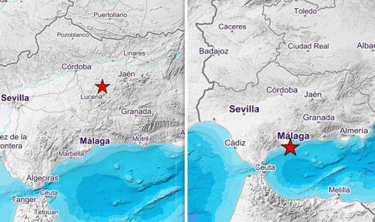 Spain hit by TRIPLE EARTHQUAKE: Tremors hit Brit tourists hotspots ...